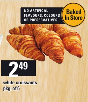 White Croissants - Pkg of 6