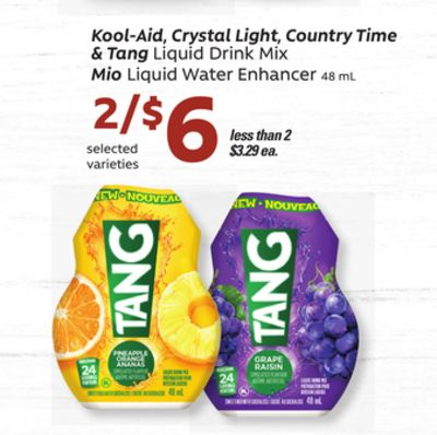 Kool-aid - Crystal Light - Country Time & Tang Liquid Drink Mix Mio Liquid Water Enhancer - 48 mL