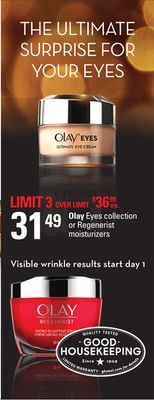 Olay Eyes Collection Or Regenerist Moisturizers