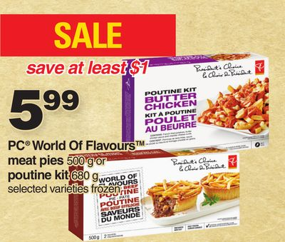 PC World Of Flavours Meat Pies 500 g Or Poutine Kit 680g