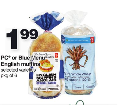 PC Or Blue Menu English Muffins - Pkg of 6