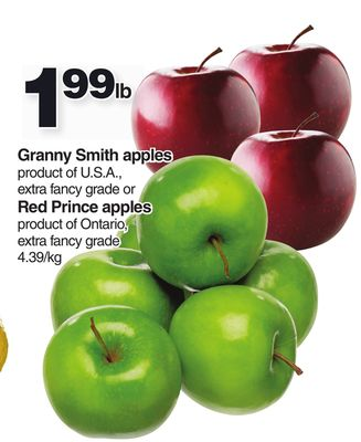 Granny Smith Apples Or Red Prince Apples