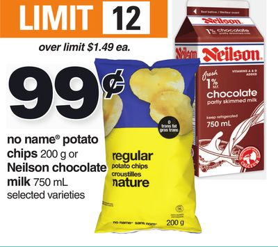 No Name Potato Chips 200 G Or Neilson Chocolate Milk 750 Ml