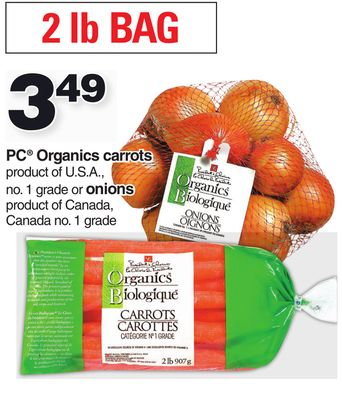 PC Organics Carrots - Onions 2 Lb Bag