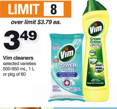 Vim Cleaners 500-950 Ml - 1 L Or Pkg Of 60