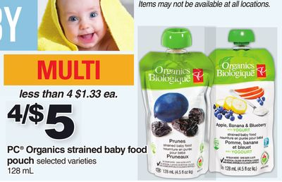 PC Organics Strained Baby Food Pouch