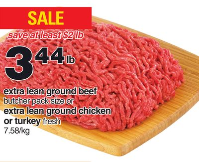 Extra Lean Ground Beef - Extra Lean Ground Chicken