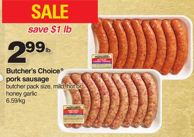 Butcher's Choice Pork Sausage