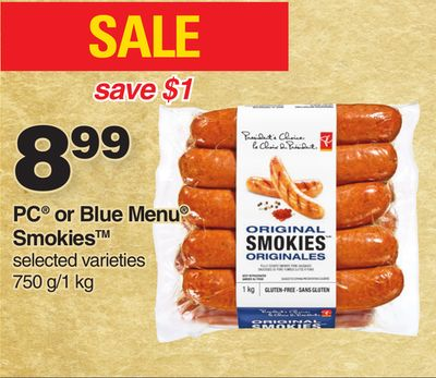 PC Or Blue Menu Smokies 750 G/1 Kg