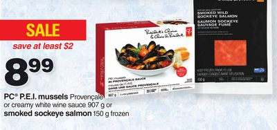 PC P.e.i. Mussels 907 G Or Smoked Sockeye Salmon 150 G