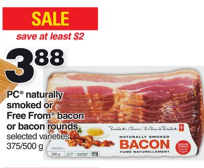 PC Naturally Smoked Or Free From Bacon Or Bacon Rounds 375/500 g