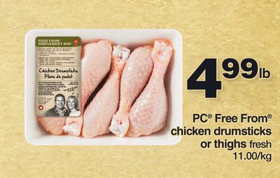 PC Free From Chicken Drumsticks Or Thighs