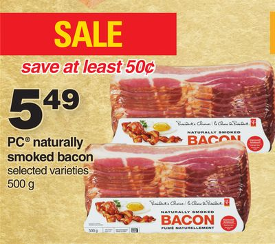 PC Naturally Smoked Bacon - 500 g