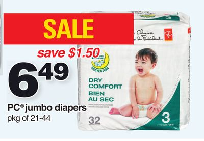 PC Jumbo Diapers - Pkg of 21-44