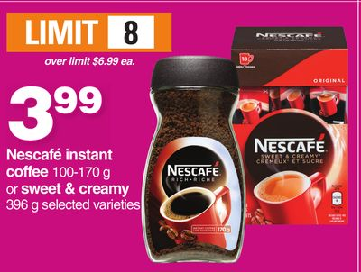 Nescafé Instant Coffee 100-170 G Or Sweet & Creamy 396 G