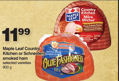 Maple Leaf Country Kitchen Or Schneiders Smoked Ham - 800 G