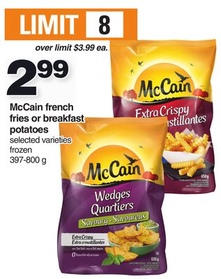 Mccain French Fries Or Breakfast Potatoes - 397-800 g