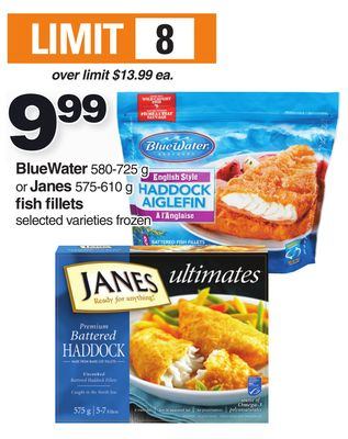 Bluewater 580-725 G Or Janes 575-610 G Fish Fillets