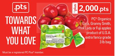 PC Organics Gala - Granny Smith - Pink Lady Or Fuji Apples - 3 Lb Bag