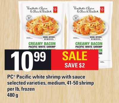 PC Pacific White Shrimp With Sauce - 480 g