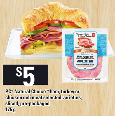 PC Natural Choice Ham - Turkey Or Chicken Deli Meat - 175 g