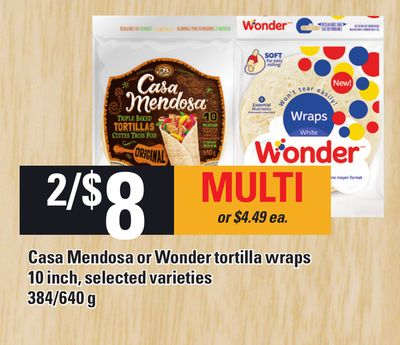 Casa Mendosa Or Wonder Tortilla Wraps - 384/640 g