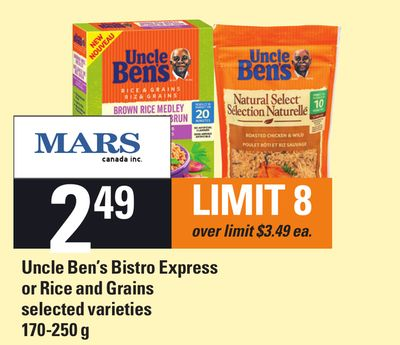 Uncle Ben's Bistro Express Or Rice And Grains - 170-250 g