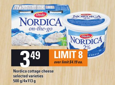 Nordica Cottage Cheese - 500 G/4x113 G