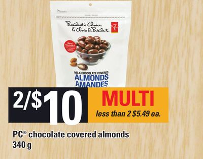 PC Chocolate Covered Almonds - 340 g