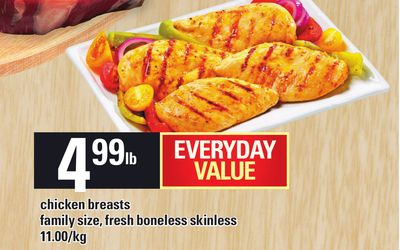 Chicken Breasts Family Size - Fresh Boneless Skinless