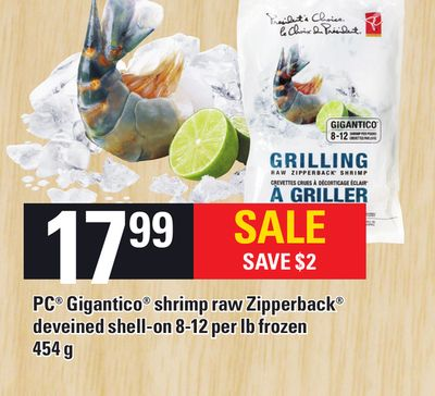 PC Gigantico Shrimp Raw Zipperback - 454 G