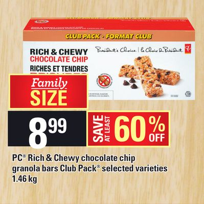 PC Rich & Chewy Chocolate Chip Granola Bars Club Pack - 1.46 Kg