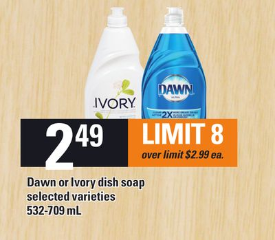 Dawn Or Ivory Dish Soap - 532-709 mL