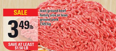Lean Ground Beef Family Size Or Lean Ground Pork