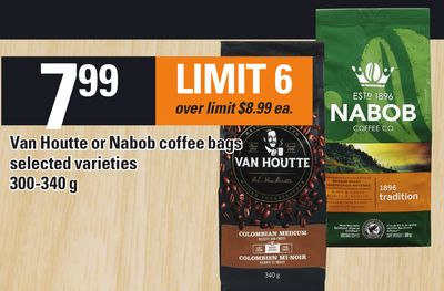 Van Houtte Or Nabob Coffee Bags - 300-340 g