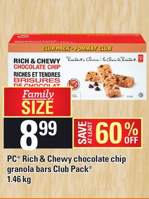 PC Rich & Chewy Chocolate Chip Granola Bars Club Pack
