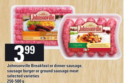 Johnsonville Breakfast Or Dinner Sausage - Sausage Burger Or Ground Sausage Meat - 250-500 G