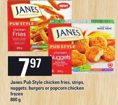 Janes Pub Style Chicken Fries - Strips - Nuggets - Burgers Or Popcorn Chicken - 800 g