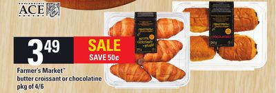 Farmer's Market Butter Croissant Or Chocolatine - Pkg of 4/6