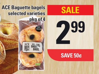 Ace Baguette Bagels - Pkg Of 4