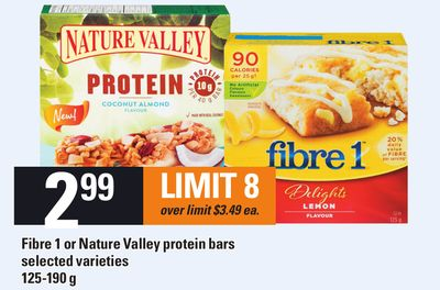 Fibre 1 Or Nature Valley Protein Bars - 125-190 g