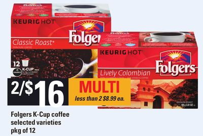 Folgers K-cup Coffee - Pkg Of 12