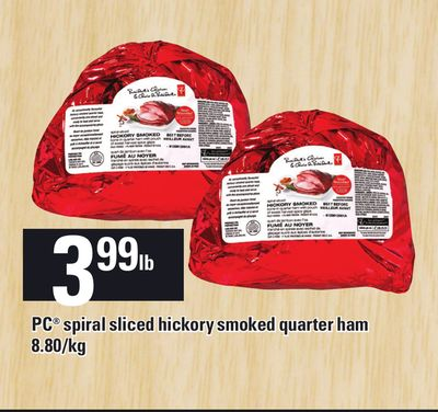PC Spiral Sliced Hickory Smoked Quarter Ham - 8.80/kg