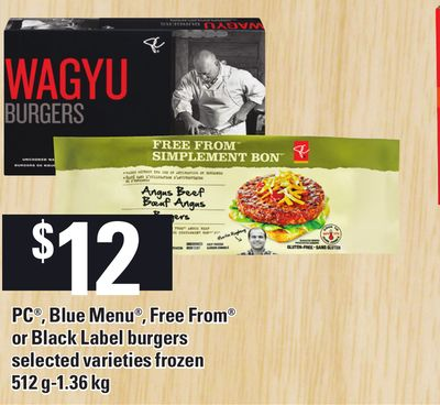 PC - Blue Menu - Free From Or Black Label Burgers - 512 G-1.36 Kg