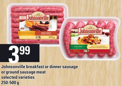 Johnsonville Breakfast Or Dinner Sausage Or Ground Sausage Meat - 250-500 G