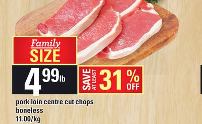 Pork Loin Centre Cut Chops Boneless