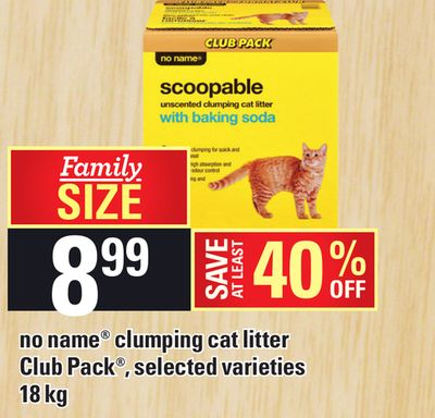 No Name Clumping Cat Litter Club Pack