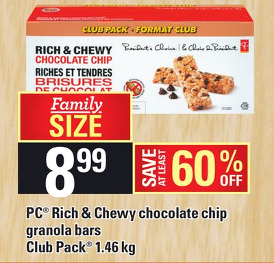 PC Rich & Chewy Chocolate Chip Granola Bars Club Pack 1.46 Kg