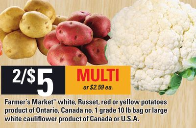Farmer's Market White - Russet - Red Or Yellow Potatoes
