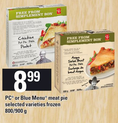 PC Or Blue Menu Meat Pie - 800/900 g